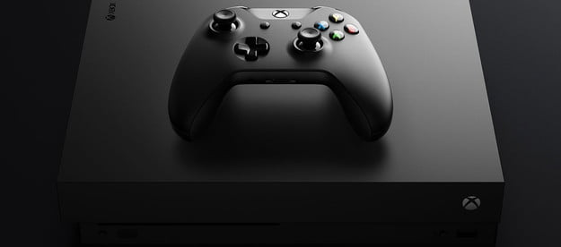 Image of xbox One x console.