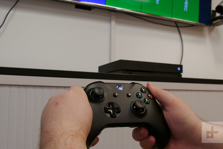 Xbox One X review controller hand