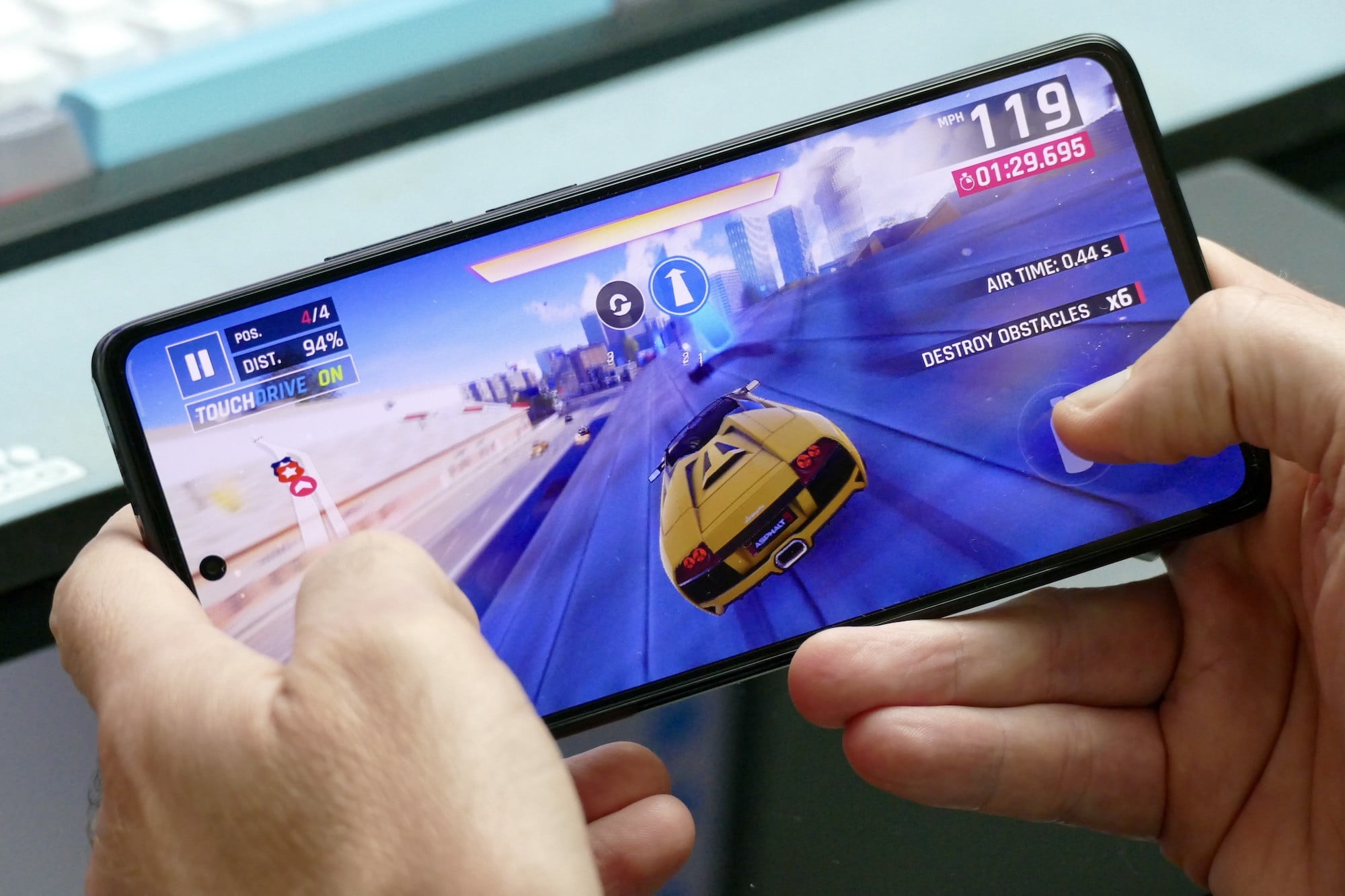 Playing a game on the Xiaomi 11T Pro.