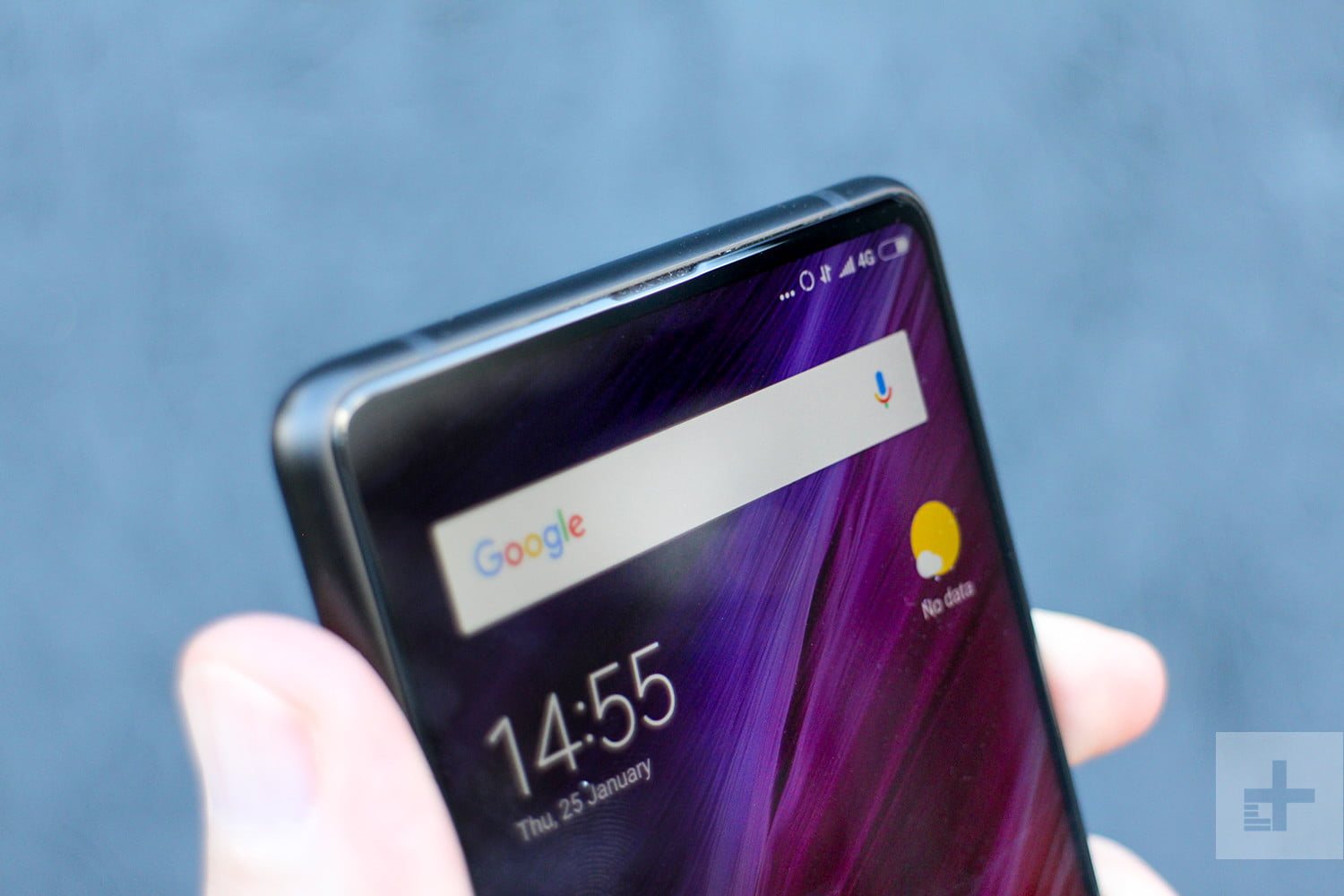 Xiaomi Mi Mix 2 Review front top angle