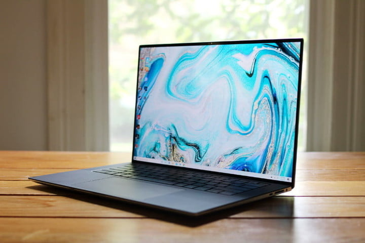 Dell XPS 15 laptop sitting on a table