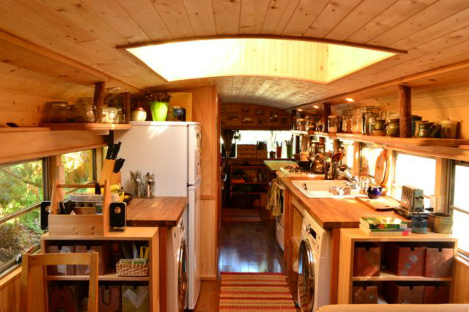 coolest bus to mobile home conversions yellowbus1