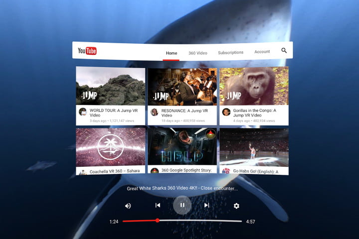 how to watch YouTube on a Gear VR