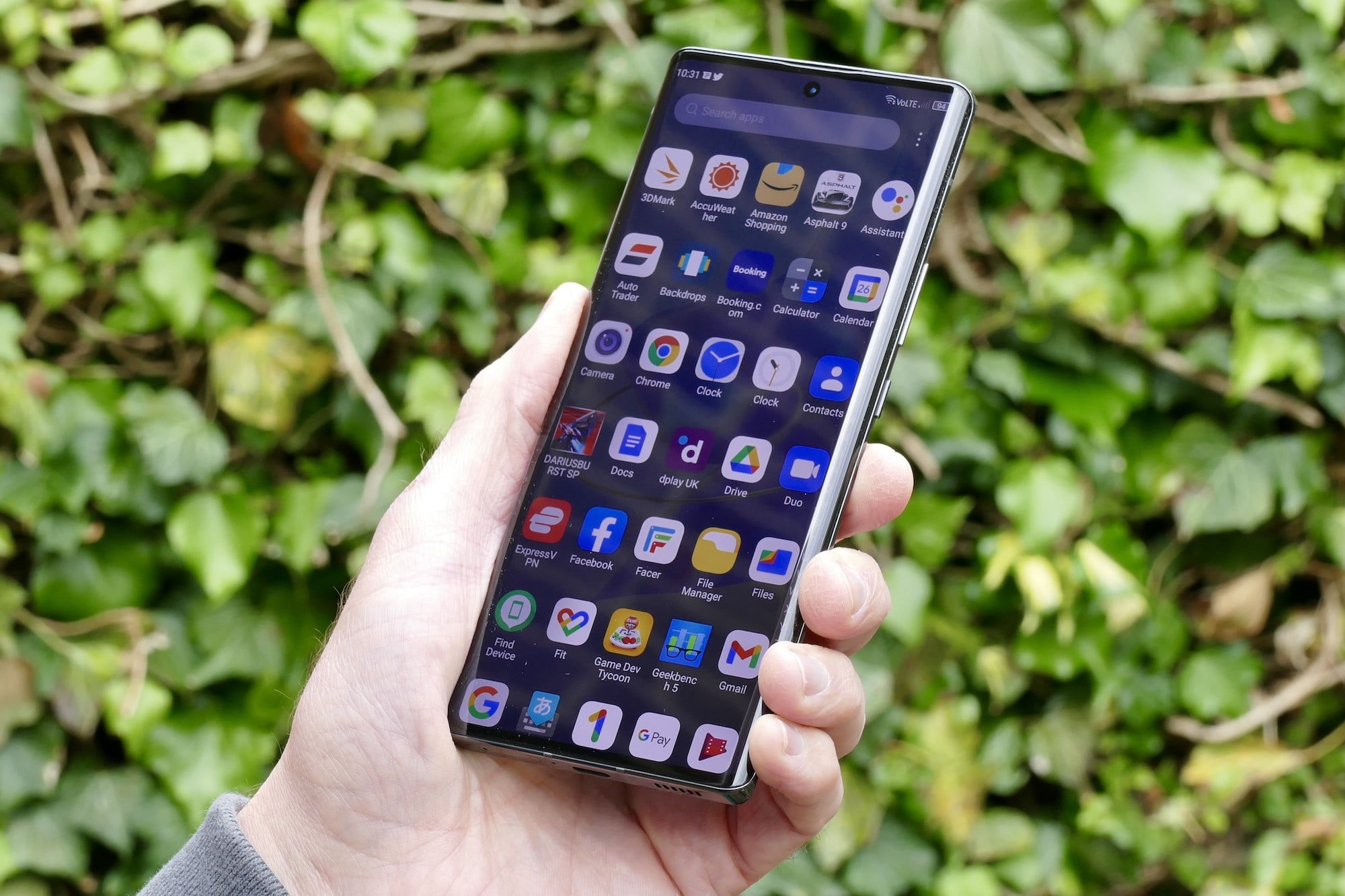The app display of the ZTE Axon 30 Ultra